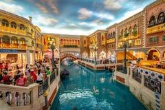 Макао, Китай - 23-ье апреля 2019: Венецианский интерьер казино стоковая фотография rf