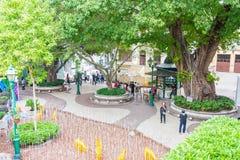 МАКАО - 13-ое декабря 2015: Квадрат Lilau (место всемирного наследия) известная Стоковая Фотография