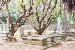 МАКАО - 13-ое декабря 2015: Кладбище протестанта (место всемирного наследия) A Стоковые Изображения