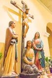 МАКАО - 13-ое декабря 2015: Распятие Иисуса на церков St Dominic (w Стоковое фото RF