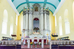 МАКАО - 13-ое декабря 2015: Церковь Августина Блаженного (место всемирного наследия) Стоковое Изображение