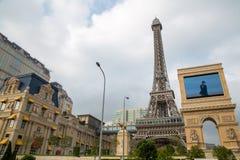 МАКАО - 29-ОЕ ОКТЯБРЯ: Парижский курорт гостиницы Макао в Макао 29-ого октября 2016 Стоковые Изображения