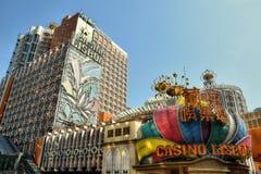 МАКАО - ОКОЛО ЯНВАРЬ 2016: Казино Лиссабона в Макао стоковое фото