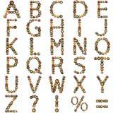 Макаронные изделия алфавита итальянские в белой предпосылке Стоковая Фотография