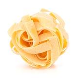 макаронные изделия гнездя fettuccine итальянские Стоковое Фото