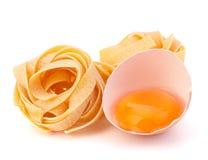 макаронные изделия гнездя fettuccine яичка итальянские Стоковое Изображение
