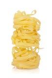 Макаронные изделия гнездя Fettuccine Стоковые Изображения