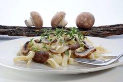 макаронные изделия гриба органические Стоковое Изображение RF