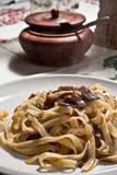 макаронные изделия гриба Стоковая Фотография