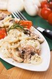 макаронные изделия гриба funghetti champignon Стоковые Фотографии RF