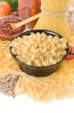 макаронные изделия ингридиента еды сырцовые Стоковое Фото