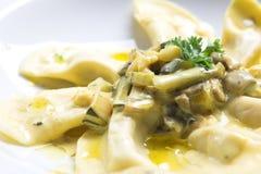 макаронные изделия итальянки тарелки Стоковая Фотография RF