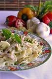 макаронные изделия итальянки тарелки Стоковые Изображения RF