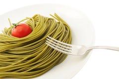 макаронные изделия итальянки тарелки Стоковое Изображение