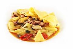 макаронные изделия итальянки тарелки Стоковое фото RF