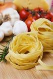макаронные изделия итальянки fettuccine Стоковая Фотография