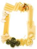 макаронные изделия рамки различные стоковое фото
