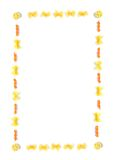 макаронные изделия рамки Стоковые Изображения RF