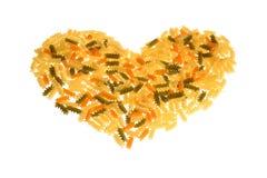 макаронные изделия сердца Стоковые Изображения RF