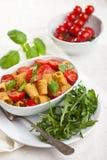 макаронные изделия тарелки свежие Стоковое Изображение RF