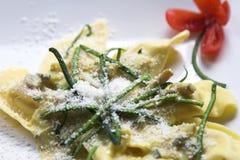 макаронные изделия тарелки Стоковое Изображение