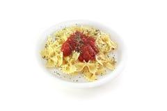макаронные изделия тарелки Стоковое Фото
