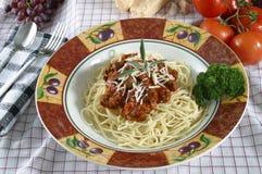 макаронные изделия тарелки Стоковое фото RF