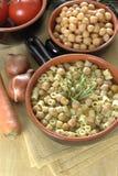 макаронные изделия chickpeas Стоковое Фото