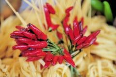 макаронные изделия chillis Стоковая Фотография