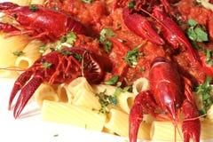 макаронные изделия crawfish Стоковая Фотография RF
