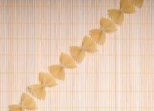 макаронные изделия farfalle Стоковые Фото