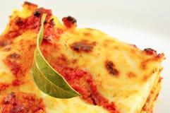 макаронные изделия lasagne классицистической тарелки casserole итальянские Стоковая Фотография RF