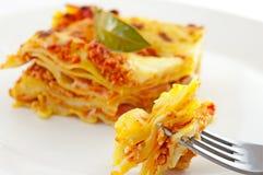 макаронные изделия lasagne классицистической тарелки casserole итальянские Стоковые Фото