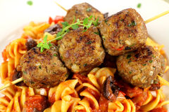 макаронные изделия meatballs Стоковое фото RF