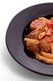 макаронные изделия meatballs Стоковые Фото