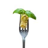 макаронные изделия листьев вилки базилика Стоковые Фотографии RF