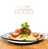 макаронные изделия мяса Стоковое Фото