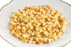 Макаронные изделия в супе, типичном блюде эмилия-Романьи, Италии, на белой предпосылке Стоковое Изображение