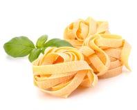макаронные изделия гнездя fettuccine итальянские Стоковые Изображения