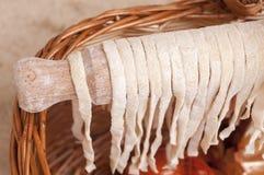 Макаронные изделия засыхания традиционные домодельные Стоковые Изображения