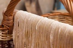 Макаронные изделия засыхания handmade домодельные Стоковая Фотография