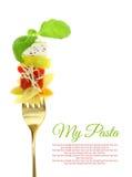 Макаронные изделия диеты с тунцом и овощами стоковая фотография rf