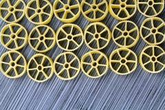 Макаронные изделия колеса телеги Стоковые Фото