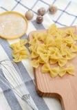 макаронные изделия крупного плана итальянские uncooked Стоковые Фотографии RF