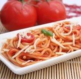 Макаронные изделия с томатным соусом Стоковое Изображение RF