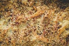 Макарон с сыром и chorizo домодельно стоковое фото rf