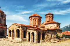 Македония, озеро Ohrid, правоверный монастырь St Naum 10th Centu Стоковое Фото