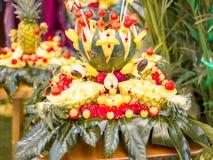 Македония свежих фруктов стоковое фото rf