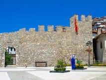 Македония Ohrid стены замка стоковые изображения