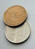 Македонская монетка, denar Стоковые Изображения